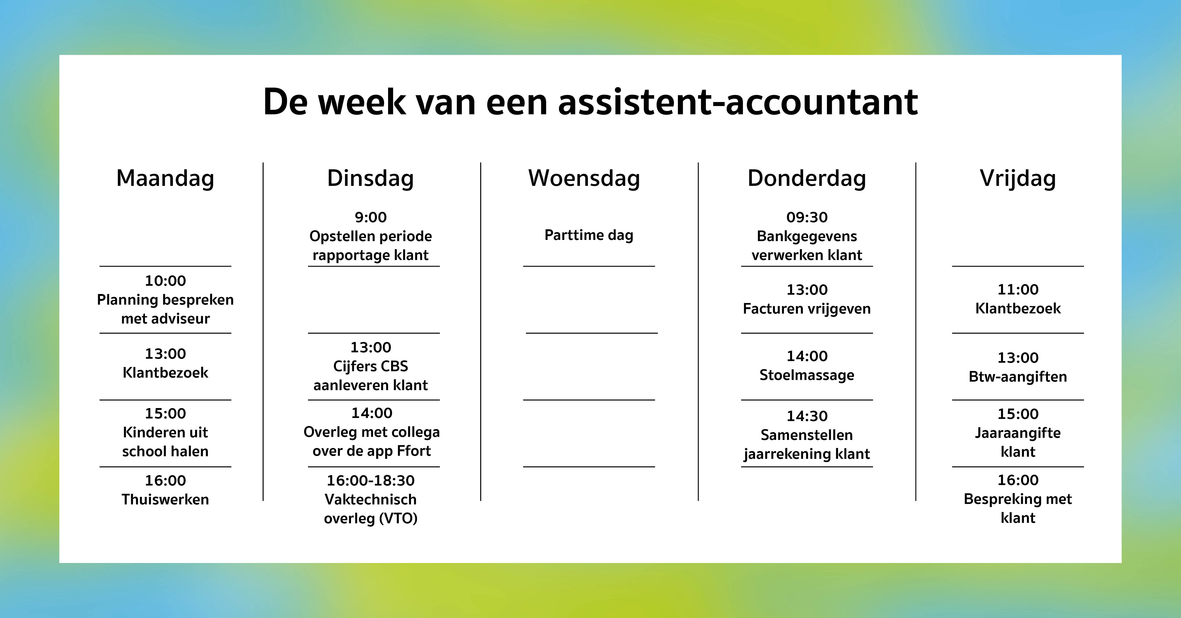 Agenda vacature assistent accountant
